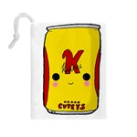 Kawaii cute Tennants Lager Can Drawstring Pouches (Large)  Back