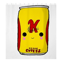 Kawaii Cute Tennants Lager Can Shower Curtain 66  X 72  (large)  by CuteKawaii1982