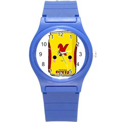 Kawaii Cute Tennants Lager Can Round Plastic Sport Watch (s)