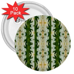 Fantasy Jasmine Paradise Bloom 3  Buttons (10 Pack)  by pepitasart