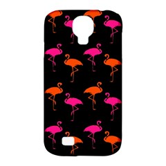Flamingos Tropical Sunset Colors Flamingo Samsung Galaxy S4 Classic Hardshell Case (pc+silicone) by CrypticFragmentsColors