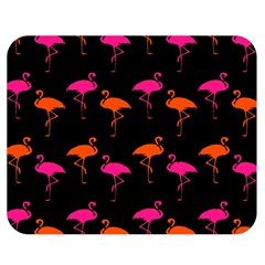 Flamingos Tropical Sunset Colors Flamingo Double Sided Flano Blanket (medium)  by CrypticFragmentsColors