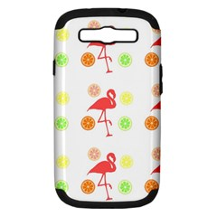 Flamingo Tropical Fruit Pattern Samsung Galaxy S Iii Hardshell Case (pc+silicone) by CrypticFragmentsColors