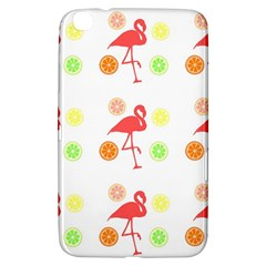 Flamingo Tropical Fruit Pattern Samsung Galaxy Tab 3 (8 ) T3100 Hardshell Case  by CrypticFragmentsColors