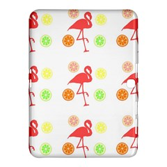 Flamingo Tropical Fruit Pattern Samsung Galaxy Tab 4 (10 1 ) Hardshell Case  by CrypticFragmentsColors