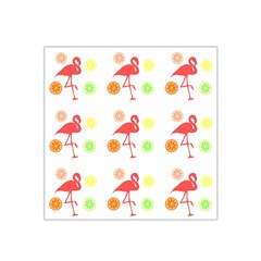 Flamingo Tropical Fruit Pattern Satin Bandana Scarf by CrypticFragmentsColors
