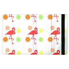 Flamingo Tropical Fruit Pattern Apple Ipad Pro 9 7   Flip Case by CrypticFragmentsColors