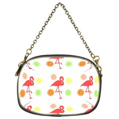 Flamingo Tropical Fruit Pattern Chain Purses (one Side)  by CrypticFragmentsColors