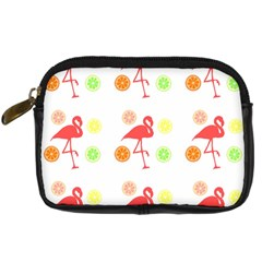 Flamingo Tropical Fruit Pattern Digital Camera Cases by CrypticFragmentsColors
