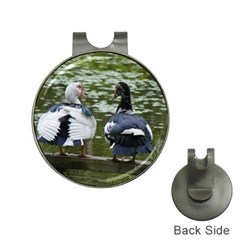 Muscovy Ducks At The Pond Hat Clips With Golf Markers by IIPhotographyAndDesigns