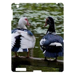 Muscovy Ducks At The Pond Apple Ipad 3/4 Hardshell Case by ImphavokImpressions