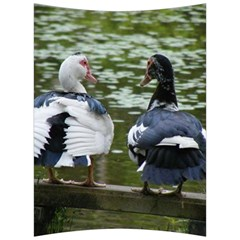 Muscovy Ducks At The Pond Back Support Cushion by IIPhotographyAndDesigns