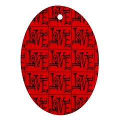 Love 1 Ornament (oval)