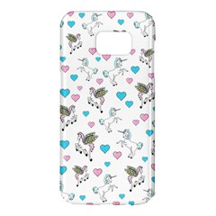 Unicorn, Pegasus And Hearts Samsung Galaxy S7 Edge Hardshell Case by IIPhotographyAndDesigns