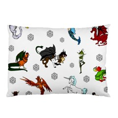 Dundgeon And Dragons Dice And Creatures Pillow Case by IIPhotographyAndDesigns