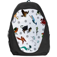 Dundgeon And Dragons Dice And Creatures Backpack Bag