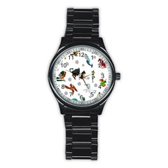 Dundgeon And Dragons Dice And Creatures Stainless Steel Round Watch by ImphavokImpressions