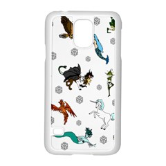 Dundgeon And Dragons Dice And Creatures Samsung Galaxy S5 Case (white) by IIPhotographyAndDesigns