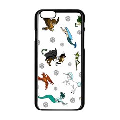 Dundgeon And Dragons Dice And Creatures Apple Iphone 6/6s Black Enamel Case by IIPhotographyAndDesigns