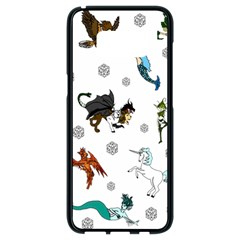 Dundgeon And Dragons Dice And Creatures Samsung Galaxy S8 Black Seamless Case