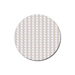 Dakind Signing Puppets Rubber Coaster (round)  by DaKindSigningPuppets