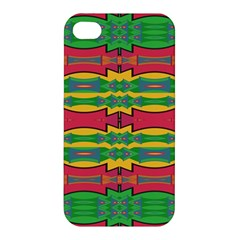 Shapes Rows Pattern                                      Apple Iphone 4/4s Hardshell Case by LalyLauraFLM
