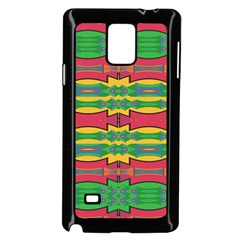 Shapes Rows Pattern                                 Samsung Galaxy Note 4 Case (white) by LalyLauraFLM