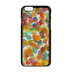 Colorful Paint Brushes On A White Background                                  Apple Iphone 6/6s White Enamel Case by LalyLauraFLM