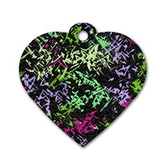 Misc Shapes On A Black Background                                         Dog Tag Heart (one Side) by LalyLauraFLM