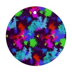 Paint Spots Texture                                         Ornament (round) by LalyLauraFLM