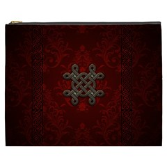 Decorative Celtic Knot On Dark Vintage Background Cosmetic Bag (xxxl) by FantasyWorld7