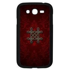 Decorative Celtic Knot On Dark Vintage Background Samsung Galaxy Grand Duos I9082 Case (black) by FantasyWorld7