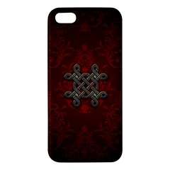 Decorative Celtic Knot On Dark Vintage Background Iphone 5s/ Se Premium Hardshell Case by FantasyWorld7