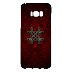 Decorative Celtic Knot On Dark Vintage Background Samsung Galaxy S8 Plus Hardshell Case  by FantasyWorld7