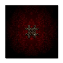 Decorative Celtic Knot On Dark Vintage Background Tile Coasters by FantasyWorld7