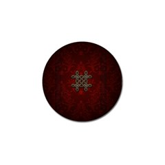 Decorative Celtic Knot On Dark Vintage Background Golf Ball Marker (4 Pack) by FantasyWorld7