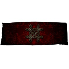Decorative Celtic Knot On Dark Vintage Background Body Pillow Case Dakimakura (two Sides) by FantasyWorld7