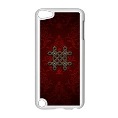 Decorative Celtic Knot On Dark Vintage Background Apple Ipod Touch 5 Case (white) by FantasyWorld7