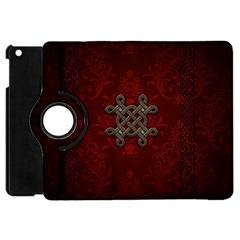Decorative Celtic Knot On Dark Vintage Background Apple Ipad Mini Flip 360 Case by FantasyWorld7