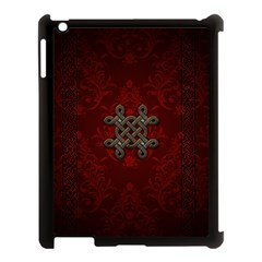 Decorative Celtic Knot On Dark Vintage Background Apple Ipad 3/4 Case (black) by FantasyWorld7