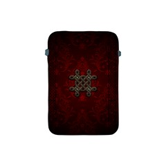 Decorative Celtic Knot On Dark Vintage Background Apple Ipad Mini Protective Soft Cases by FantasyWorld7