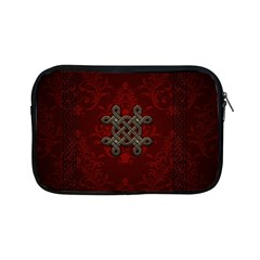 Decorative Celtic Knot On Dark Vintage Background Apple Ipad Mini Zipper Cases by FantasyWorld7