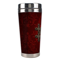 Decorative Celtic Knot On Dark Vintage Background Stainless Steel Travel Tumblers by FantasyWorld7