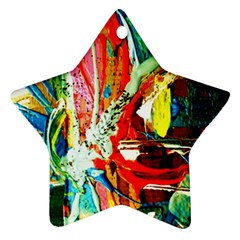 Red Aeroplane 2 Star Ornament (two Sides)