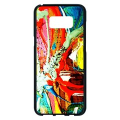 Red Aeroplane 2 Samsung Galaxy S8 Plus Black Seamless Case