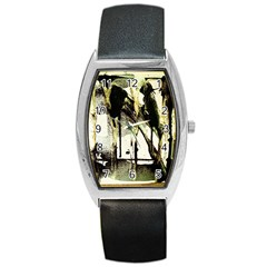 There Is No Promissed Rain 2 Barrel Style Metal Watch