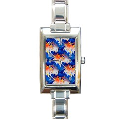 Palm Trees Tropical Beach Sunset Rectangle Italian Charm Watch by CrypticFragmentsColors