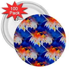 Palm Trees Tropical Beach Sunset 3  Button (100 Pack)