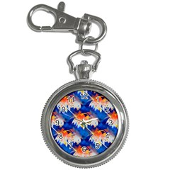 Palm Trees Tropical Beach Sunset Key Chain Watch by CrypticFragmentsColors