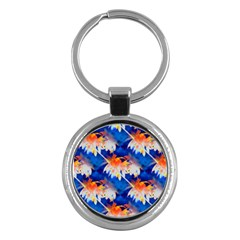 Palm Trees Tropical Beach Sunset Key Chain (round)